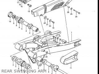 Suzuki Gs700e 1985 f Usa e03 Rear Swinging Arm