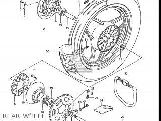 Suzuki Gs700e 1985 f Usa e03 Rear Wheel