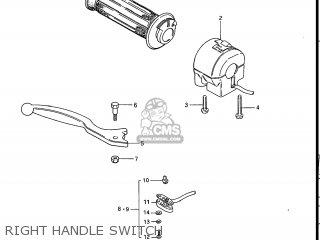 Suzuki Gs700e 1985 f Usa e03 Right Handle Switch