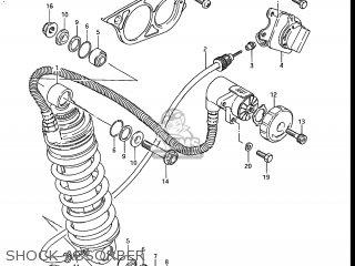 Suzuki Gs700e 1985 f Usa e03 Shock Absorber