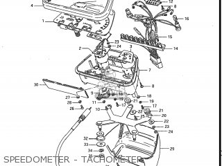Suzuki Gs700e 1985 f Usa e03 Speedometer - Tachometer