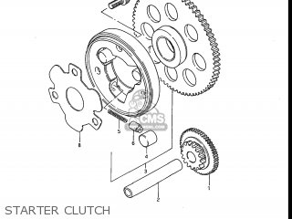 Suzuki Gs700e 1985 f Usa e03 Starter Clutch