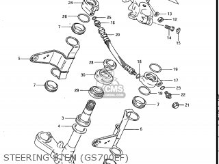 Suzuki Gs700e 1985 f Usa e03 Steering Stem gs700ef