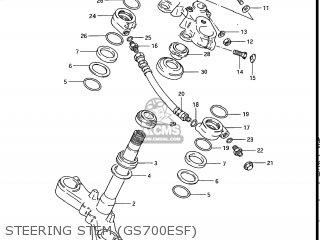 Suzuki Gs700e 1985 f Usa e03 Steering Stem gs700esf