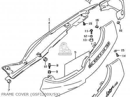 Suzuki Gsf1200 1996 T E02 E04 E22 E25 E34 Parts Lists And Schematics