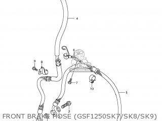 suzuki gsf1250s bandit 2007 k7 usa e03 parts lists and schematics Bandit Motorcycle front brake hose gsf1250sk7 sk8 sk9