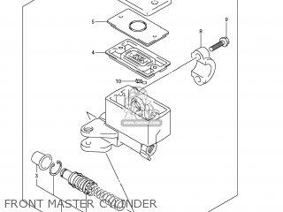 suzuki gsf1250s bandit 2007 k7 usa e03 parts lists and schematics Suzuki Bandit 1250 Horsepower front master cylinder