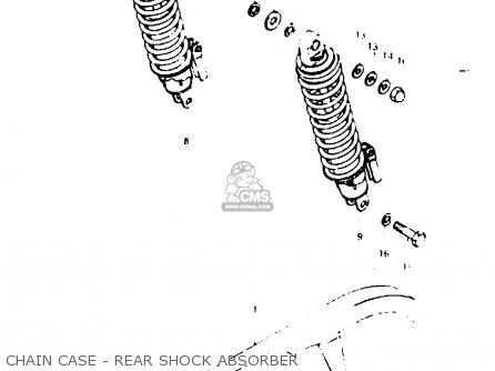 Suzuki Gsx1000s 1982 z General Export e01 Chain Case - Rear Shock Absorber