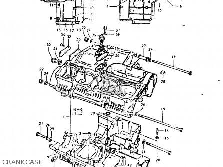 Suzuki Gsx1000s 1982 z General Export e01 Crankcase