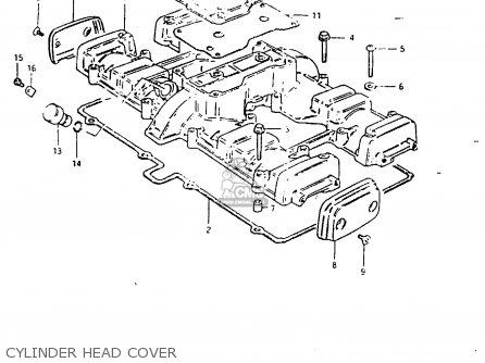 Suzuki Gsx1000s 1982 z General Export e01 Cylinder Head Cover