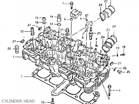 Suzuki Gsx1000s 1982 z General Export e01 Cylinder Head