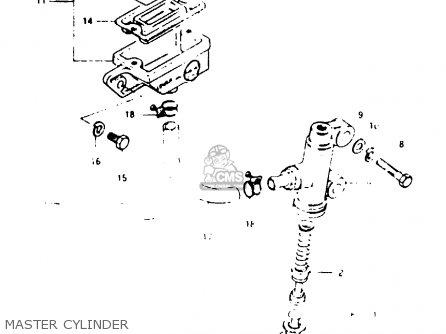 Suzuki Gsx1000s 1982 z General Export e01 Master Cylinder