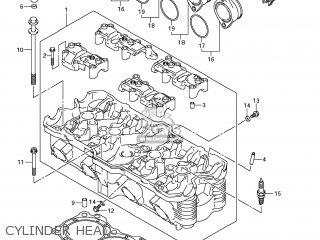 Suzuki Gsx1250fa 2011 l1 Usa e03 Cylinder Head