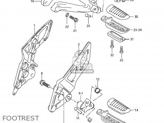 Suzuki Gsx1250fa 2011 l1 Usa e03 Footrest