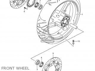 Suzuki Gsx1250fa 2011 l1 Usa e03 Front Wheel