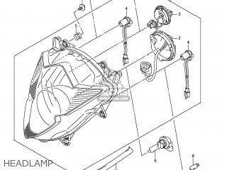 Suzuki Gsx1250fa 2011 l1 Usa e03 Headlamp