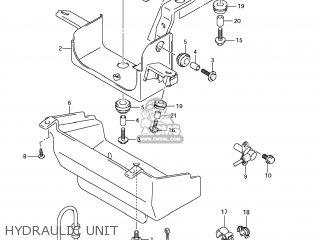 Suzuki Gsx1250fa 2011 l1 Usa e03 Hydraulic Unit