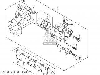 Suzuki Gsx1250fa 2011 l1 Usa e03 Rear Caliper