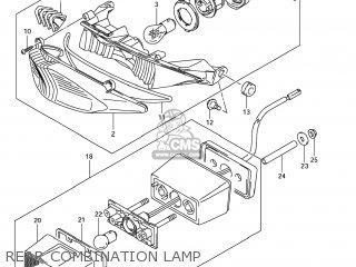 Suzuki Gsx1250fa 2011 l1 Usa e03 Rear Combination Lamp