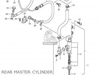 Suzuki Gsx1250fa 2011 l1 Usa e03 Rear Master Cylinder