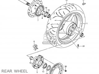 Suzuki Gsx1250fa 2011 l1 Usa e03 Rear Wheel