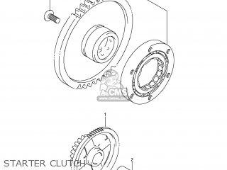 Suzuki Gsx1250fa 2011 l1 Usa e03 Starter Clutch