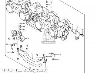 Suzuki Gsx1250fa 2011 l1 Usa e03 Throttle Body e28