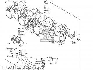 Suzuki Gsx1250fa 2011 l1 Usa e03 Throttle Body e33