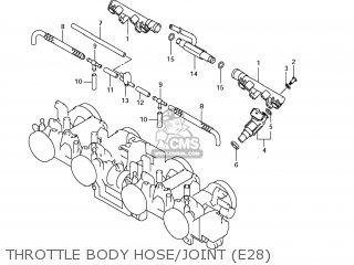 Suzuki Gsx1250fa 2011 l1 Usa e03 Throttle Body Hose joint e28