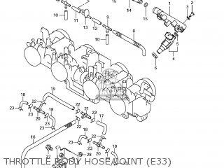Suzuki Gsx1250fa 2011 l1 Usa e03 Throttle Body Hose joint e33