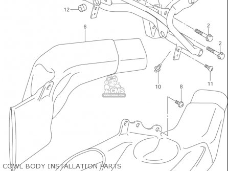Suzuki Gsx1300 R z Hayabusa 1999-2003 usa Cowl Body Installation Parts