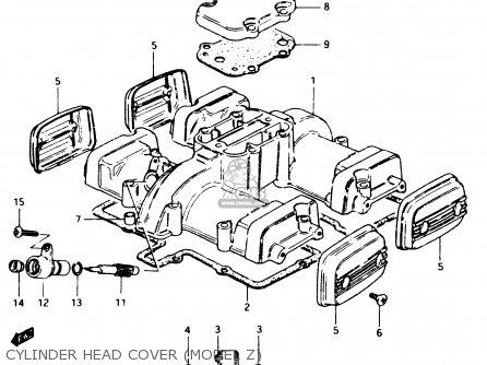 suzuki gsx250e 1982 (z) general export (e01) parts lists and schematicscylinder head cover (model z)