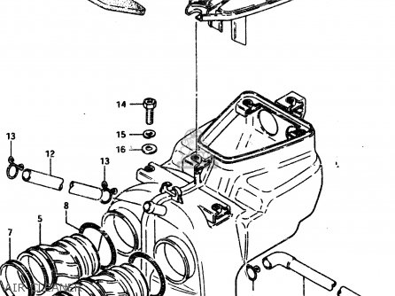 Suzuki Gsx450l 1983 d General Export e01 Air Cleaner