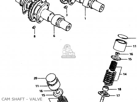 Suzuki Gsx450l 1983 d General Export e01 Cam Shaft - Valve