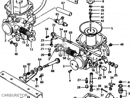 Suzuki Gsx450l 1983 d General Export e01 Carburetor