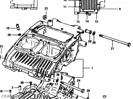 Suzuki Gsx450l 1983 d General Export e01 Crankcase