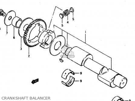 Suzuki Gsx450l 1983 d General Export e01 Crankshaft Balancer