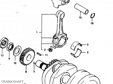 Suzuki Gsx450l 1983 d General Export e01 Crankshaft