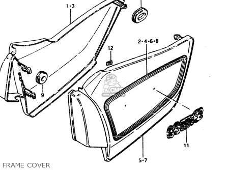 Suzuki Gsx450l 1983 d General Export e01 Frame Cover
