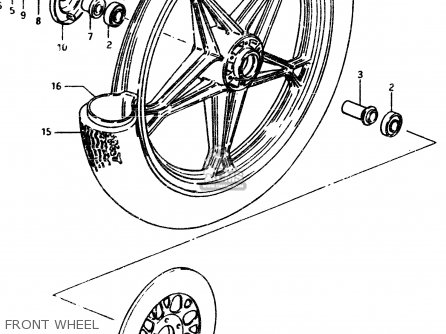 Suzuki Gsx450l 1983 d General Export e01 Front Wheel