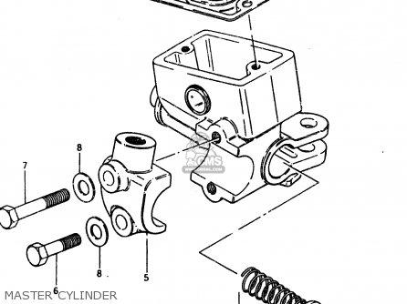 Suzuki Gsx450l 1983 d General Export e01 Master Cylinder