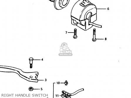 Suzuki Gsx450l 1983 d General Export e01 Right Handle Switch