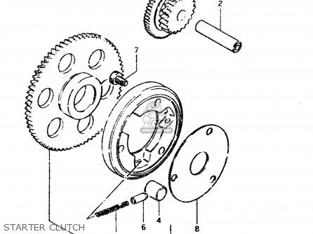 Suzuki Gsx450l 1983 d General Export e01 Starter Clutch