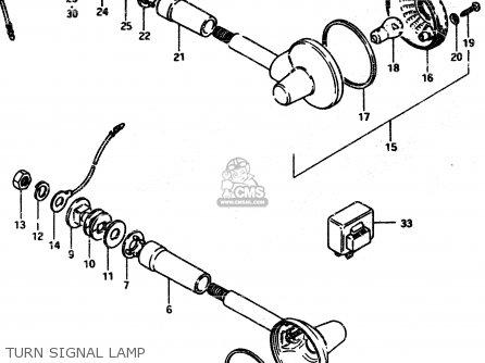 Suzuki Gsx450l 1983 d General Export e01 Turn Signal Lamp