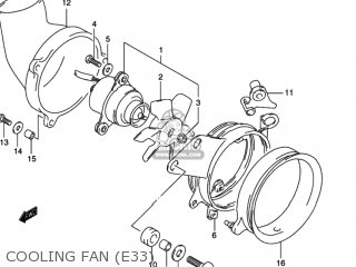 Suzuki Gsx600f Katana 1997 V Usa E03 Parts Lists And Schematics. Cooling Fan E33. Wiring. 1997 Gsx600f Wiring Diagram At Scoala.co
