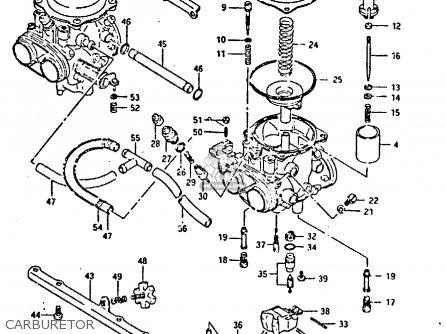Suzuki Gsxr400 1987 h General Export e01 Carburetor