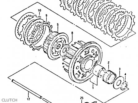 Suzuki Gsxr400 1987 h General Export e01 Clutch