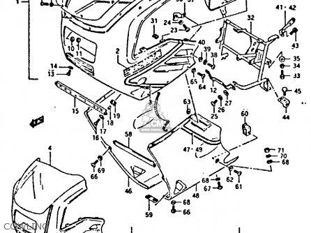 Suzuki Gsxr400 1987 h General Export e01 Cowling