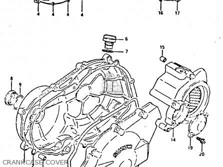 Suzuki Gsxr400 1987 h General Export e01 Crankcase Cover