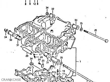 Suzuki Gsxr400 1987 h General Export e01 Crankcase